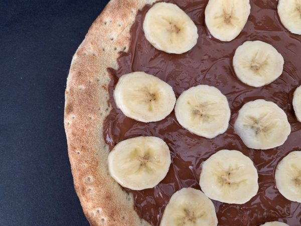 Pizza banane nutella